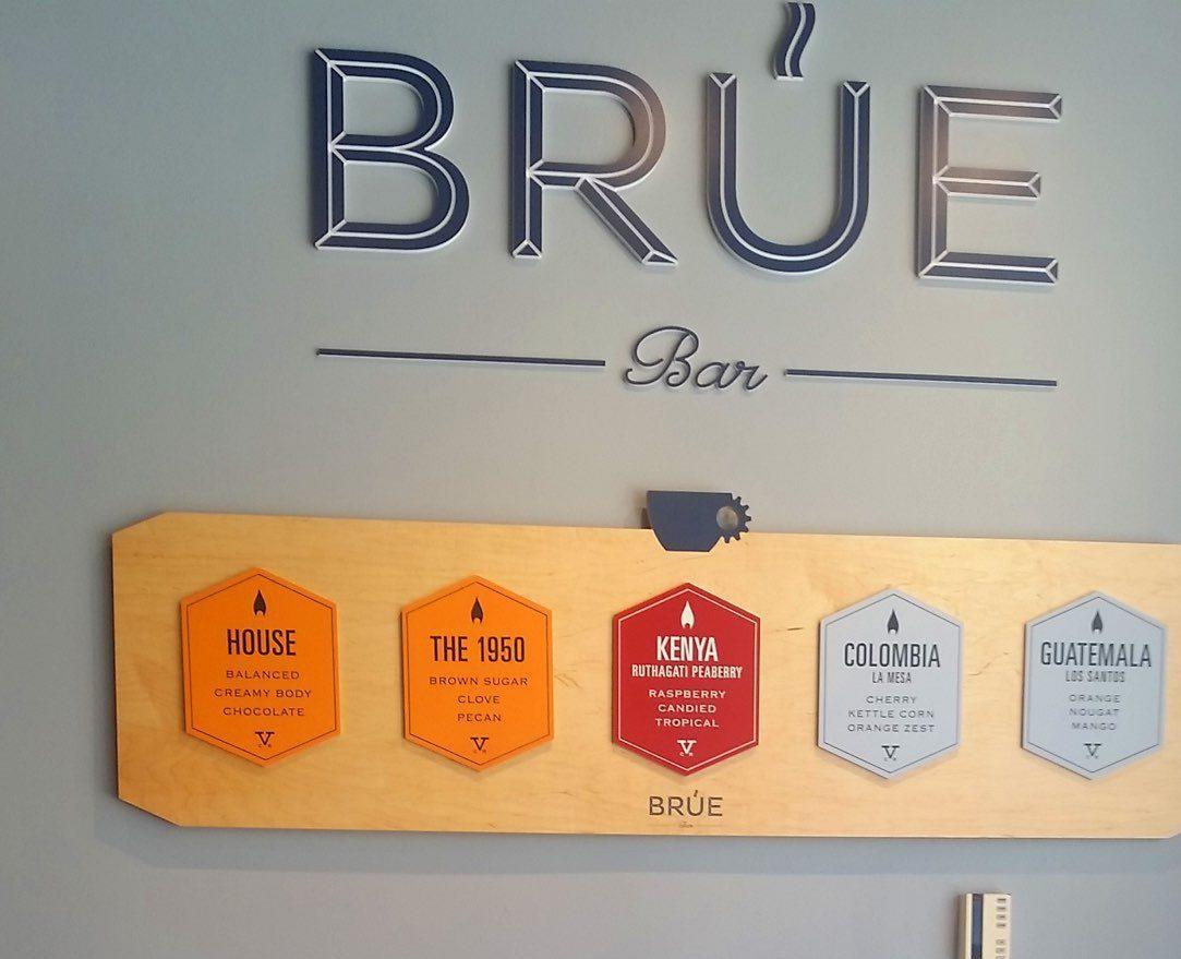 brua bar wall menu